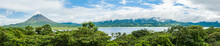 Panoramic View Of Volcano Arenal And Lake Arenal In The National Park Arenal, Costa Rica