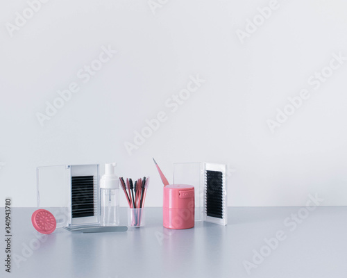 Cool, glamorous and sophisticated beauty background or backdrop with lash extens Fototapeta