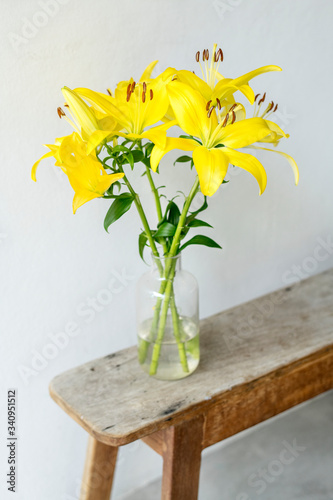 Flower in a vase Canvas Print