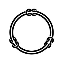 Circle Frame With Knots And Tw...
