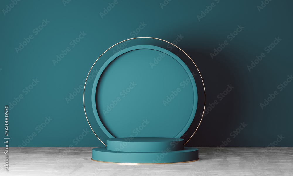 Fototapeta abstract background for product presentation, podium display, minimal design, 3d scene, 3d rendering.