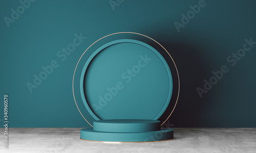 Obraz abstract background for product presentation, podium display, minimal design, 3d scene, 3d rendering. - fototapety do salonu