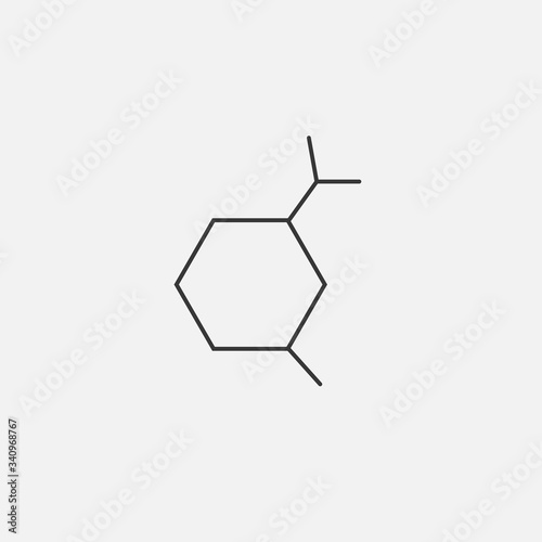 amino acid carbon chain vector icon organic chemistry icon Wallpaper Mural
