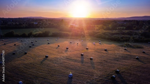 Scenic View Of Landscape Against Sky During Sunset - fototapety na wymiar