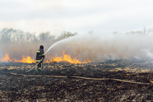 Firefighters Helped Battle A Wildfire