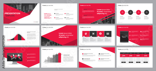 Fotografie, Obraz business presentation backgrounds design template and page layout design for bro