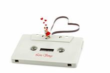 Miniature Couple Dancin On  A Music Cassette