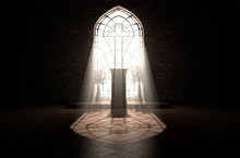 Church Interior Light & Pulpit