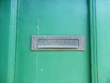 Full Frame Shot Of Door With Mail Slot