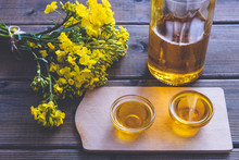 Small Cups With Rapeseed Oil A...