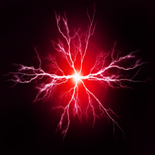 Pure Power And Electricity Red