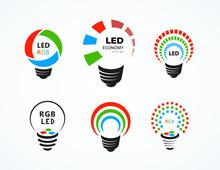 Led Lightbuld Logo Symbol Sign...