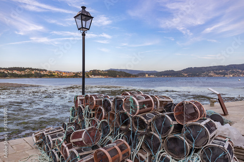 Valokuva Fishing tools piled up on the dock of the fishing village named Combarro in Galicia, Spain