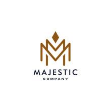 M Logotype Icon MM Logo With C...
