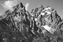 Low Angle View Of Mountains Against Sky At Grand Teton National Park