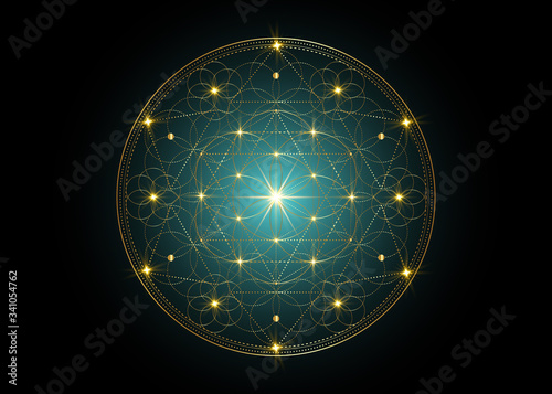 Canvastavla Seed of life symbol Sacred Geometry
