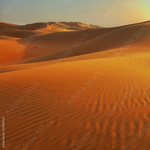 Fototapety, obrazy: Scenic View Of Sand Dune At Sunset