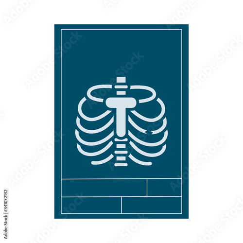 rx medical flat style icon Canvas Print