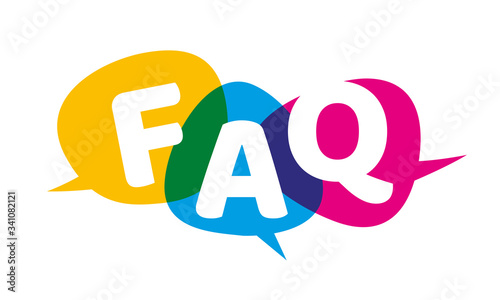 Photo FAQ Bubble Vector Illustration Frequently Asked Questions
