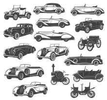 Vintage Car And Retro Auto Vec...