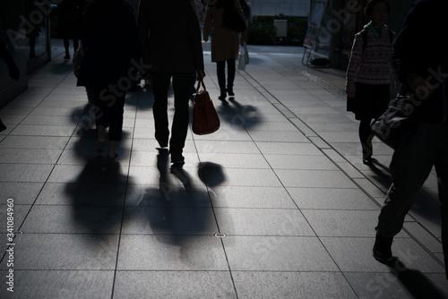 Obraz People Walking On Street - fototapety do salonu