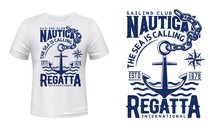 Nautical Anchor T-shirt Print ...