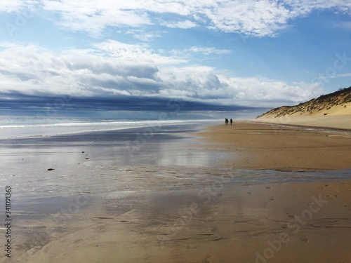 Scenic View Of Beach Against Sky Canvas Print