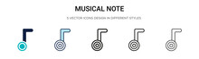 Musical Note Icon In Filled, T...