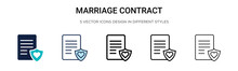 Marriage Contract Icon In Fill...