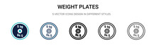 Weight Plates Icon In Filled, ...