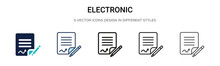 Electronic Signature Icon In F...