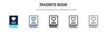 Favorite Book Icon In Filled, ...
