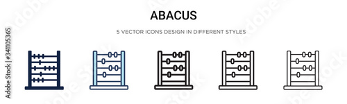 Abacus icon in filled, thin line, outline and stroke style Canvas Print