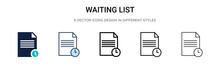 Waiting List Icon In Filled, T...