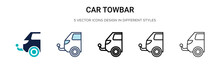 Car Towbar Icon In Filled, Thi...
