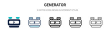 Generator Icon In Filled, Thin...