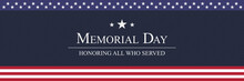 Memorial Day Background Vector...