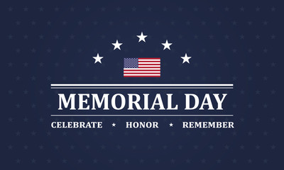 Memorial Day background vector illustration