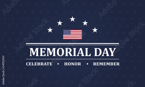 Fotomural Memorial Day background vector illustration