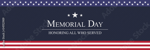 Memorial Day background vector illustration Tableau sur Toile