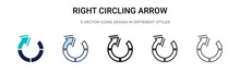 Right Circling Arrow Icon In F...