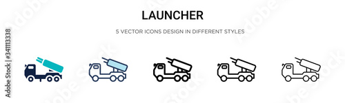 Photo Launcher icon in filled, thin line, outline and stroke style