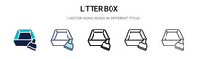 Litter Box Icon In Filled, Thi...