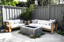 Relaxing Outdoor Space With Couch