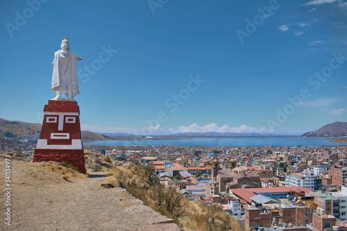 Lago titicaca, Inka manco capac Canvas Print