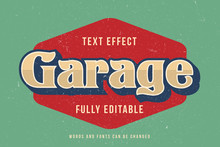 Vintage Text Effect Template W...