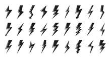 Clyph Lightning Bolt Icon Set....