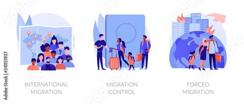 Fotografie, Obraz Population displacement, refugees metaphors
