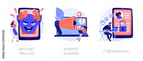 Fotomural Cyberbullying metaphors set