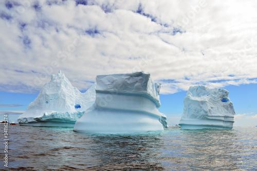 iceberg in antarctica aground near cost line Wallpaper Mural